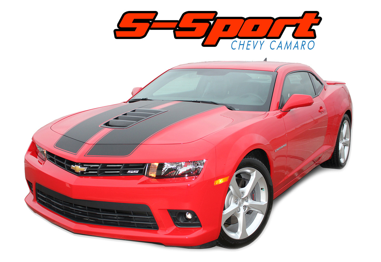 S sport 2014 2015 chevy camaro ss hood rally racing stripes vinyl graphics trunk oem style decal kit