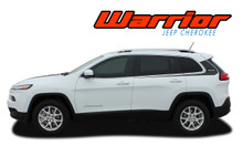 WARRIOR : 2013 2014 2015 2016 2017 2018 2019 Jeep Cherokee Upper Body Line Door Accent Vinyl Graphics Decal Stripe Kit (VGP-2810)