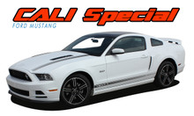"CALI GT/CS : 2013-2014 Ford Mustang ""California Special Style"" Hood and Rocker Panel Stripes Vinyl Graphic Decals Kit (VGP-2786)"