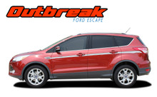 OUTBREAK :  Ford Escape Body Line Vinyl Graphics Decal Stripe Kit (VGP-2900)