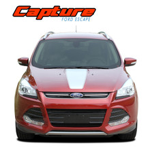 CAPTURE : Ford Escape Hood Vinyl Graphics Decal Stripe Kit (VGP-2898)