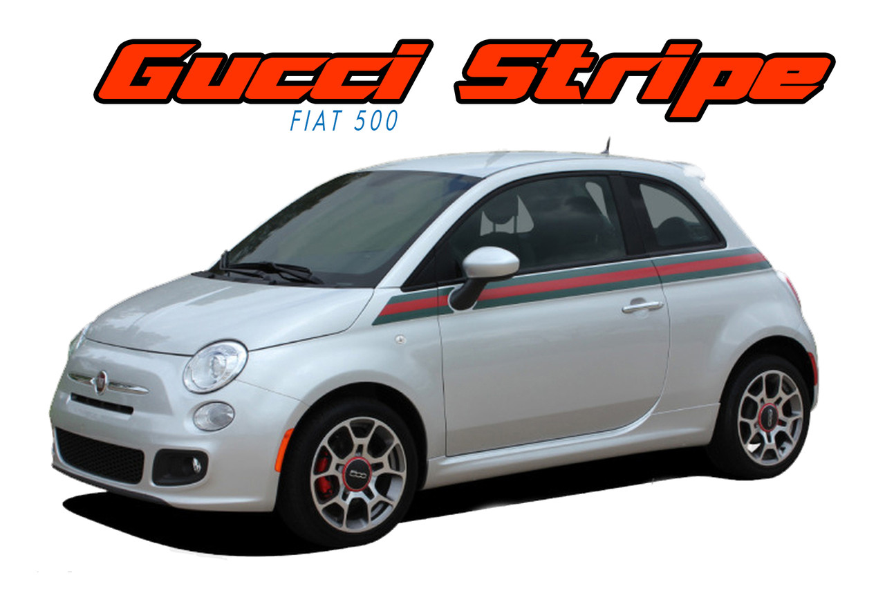 Se 5 Italian Applique Stripe   2017  Gucci Style Abarth Door To Rear Wrap Around Vinyl Graphics Stripes Decals
