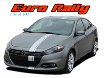 DART E-RALLY : 2013 2014 2015 2016 Dodge Dart Bumper to Bumper Euro Rally Racing Stripes Kit (VGP-2166)