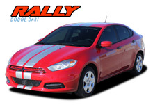 DART RALLY : 2013 2014 2015 2016 Dodge Dart Bumper to Bumper Hood Rally Racing Stripes Kit (VGP-2679)