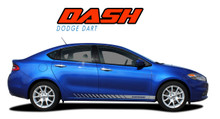 DASH : 2013 2014 2015 2016 Dodge Dart Lower Rocker Vinyl Stripes Decals Graphics Kit (VGP-1941)
