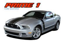 PRIME 1 : 2013-2014 Ford Mustang BOSS 302 Style Door Fender Hood Vinyl Graphics Decal Stripe Kit (VGP-1786)