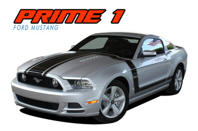 PRIME 1 : 2013-2014 Ford Mustang BOSS 302 Style Door Fender Hood Vinyl Graphics Decal Stripe Kit (VGP-1786)