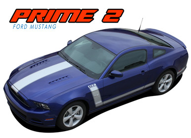 PRIME 2 : 2013-2014 Ford Mustang BOSS 302 Style Vinyl Graphics Striping Decal Kit (VGP-1787)