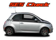 SE5 CHECK : 2011 2012 2013 2014 2015 2016 2017 2018 Fiat 500 Upper Side Door Abarth Vinyl Graphics Stripes Decals Kit (VGP-1671)