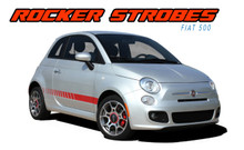SE5 ROCKER STROBES : 2011 2012 2013 2014 2015 2016 2017 2018 Fiat 500 Abarth Lower Door Rocker Panel Vinyl Graphics Stripes Decals Kit (VGP-1753)