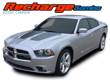 RECHARGE COMBO : 2011 2012 2013 2014 Dodge Charger Split Hood Decals and Rear Quarter Panel Stripe Vinyl Graphics Kit (VGP-1638)