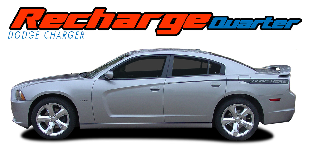 Recharge Quarter Dodge Charger Stripes Charger Decals Charger Vinyl Graphics
