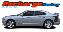RECHARGE HOCKEY : 2011 2012 2013 2014 Dodge Charger Rear Quarter Panel Extended Vinyl Graphic Decal Striping Kit (VGP-1810)