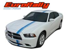 EURO RALLY : 2011 2012 2013 2014 Dodge Charger E-Rally Offset Vinyl Graphics Racing Stripe Decal Kit (VGP-1716)