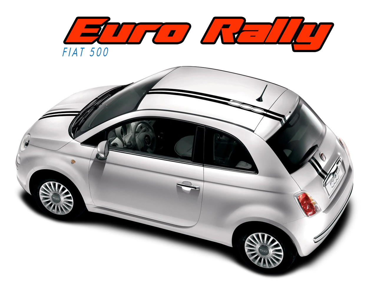 Euro Rally   2017  Offset Racing Stripe Abarth Vinyl Graphics Striping Decals Kit Vgp 1670