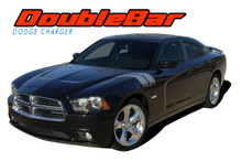 RECHARGE DOUBLE BAR : 2011 2012 2013 2014 Dodge Charger Hood to Fender Hash Marks Vinyl Graphic Decals and Stripe Kit (VGP-1769)