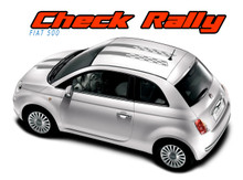 CHECK RALLY : 2011 2012 2013 2014 2015 2016 2017 2018 Fiat 500 Abarth Hood Roof Vinyl Graphics Stripes Decals Kit (VGP-1669)