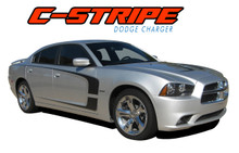 C-STRIPE : 2011 2012 2013 2014 Dodge Charger Side Door Accent Vinyl Graphics Decal Stripes Kit (VGP-1704)