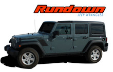RUNDOWN : 2007 2008 2009 2010 2011 2012 2013 2014 2015 2016 2017 Jeep Wrangler Hood to Fender Vinyl Graphics Decal Stripe Kit (VGP-2825)