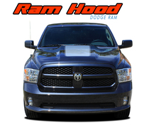RAM HOOD : 2009 2010 2011 2012 2013 2014 2015 2016 2017 2018 Dodge Ram Hood Blackout Vinyl Graphics Stripe Decal Accent Kit (VGP-3108)