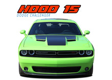 HOOD 15 : 2015 2016 2017 2018 2019 2020 2021 Dodge Challenger Factory OE Factory Style R/T Hood Vinyl Graphics Stripe Decals Kit (VGP-3180)
