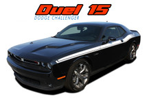 Challenger DUAL 2 : Vinyl Graphics Upper Door Strobe R/T Decal Stripe Kit fits 2011 2012 2013 2014 2015 2016 2017 2018 2019 Dodge Challenger