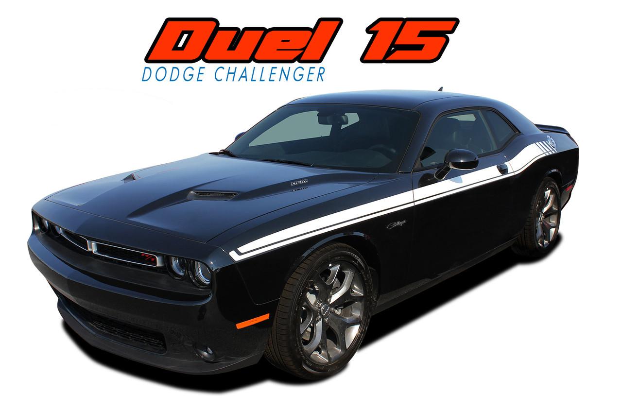 Dual 15 Dodge Challenger Stripes Challenger Graphics Vinyl Decals