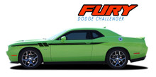FURY : 2011 2012 2013 2014 2015 2016 2017 2018 2019 Dodge Challenger Door to Fender Hash Upper Stripe Accent Vinyl Graphics Decal Kit (VGP-3183)