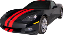 2005-2013 Chevy Corvette Complete Dual Rally Racing Vinyl Graphic Decal Stripe Kit (GRV200)