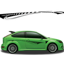 VISION : Automotive Vinyl Graphics - Universal Fit Decal Stripes Kit - Pictured with TWO DOOR HATCHBACK (ILL-850)