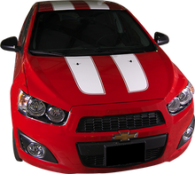 2012-2015 Chevy Sonic Hatch Racer Vinyl Graphic Decal Stripe Kit (GRS200)