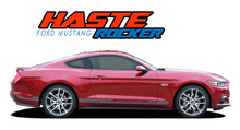 HASTE ROCKER : 2015 2016 2017 Ford Mustang Lower Rocker Panel Side Stripes Vinyl Graphic Decals (VGP-3292)