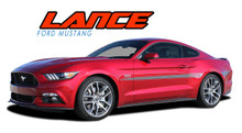 LANCE : 2015 2016 2017 Ford Mustang Mid-Door Accent Stripes Vinyl Graphic Decals Kit (VGP-3291)