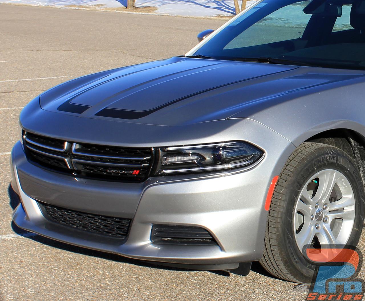 2008 Charger Rt >> SCALLOP HOOD 15 | Dodge Charger Stripes | Charger Decals | Charger Vinyl Graphics