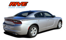 RIVE : 2015 2016 2017 2018 2019 2020 2021 Dodge Charger Hood Spikes and Rear Quarter Panel Sides Vinyl Graphic Decals Stripe Kit (VGP-3315)