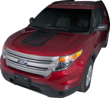 2011-2015 Ford Explorer Mudslinger Hood Vinyl Graphic Decal Stripe Kit (GRF239)