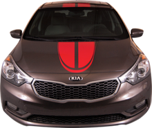 2014-2015 Kia Forte 5 Door Boomerang Racing Vinyl Graphic Decal Stripe Kit (GRK223)