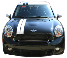 Mini Cooper Double Rally Vinyl Graphic Decal Stripe Kit (GRR200)