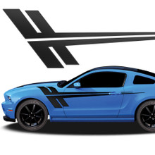 QUAKE : Automotive Vinyl Graphics - Universal Fit Decal Stripes Kit - Pictured with FORD MUSTANG (ILL-918)