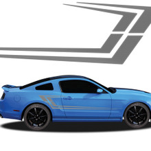 MAKO : Automotive Vinyl Graphics - Universal Fit Decal Stripes Kit - Pictured with FORD MUSTANG (ILL-919)