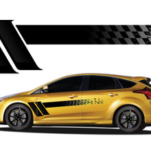 CHAMPION : Automotive Vinyl Graphics - Universal Fit Decal Stripes Kit - Pictured with HYUNDAI and TOYOTA (ILL-921)