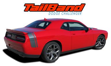 TAILBAND : 2011 2012 2013 2014 2015 2016 2017 2018 2019 2020 Dodge Challenger Factory OEM Scat Pack Style Rear Quarter Panel Trunk Vinyl Rally Stripes (VGP-3425)
