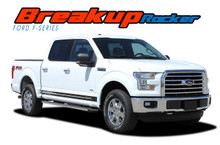 F-150 BREAKUP ROCKER : 2015 2016 2017 2018 2019 2020 Ford F-150 Lower Door Rocker Panel Stripes Vinyl Graphic Decals Kit (VGP-3528)
