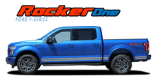 F-150 ROCKER ONE : 2015 2016 2017 2018 2019 2020 Ford F-150 Lower Door Rocker Panel Stripes Vinyl Graphic Decals Kit (VGP-3524)