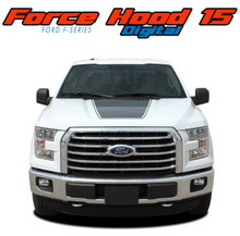 "FORCE HOOD DIGITAL : 2015 2016 2017 2018 2019 2020 Ford F-150 Hood ""Appearance Package Style"" Vinyl Graphic Screen Print Decal Kit (VGP-3519)"