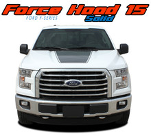 "FORCE HOOD SOLID : 2015 2016 2017 2018 2019 Ford F-150 Hood ""Appearance Package Style"" Vinyl Graphic Solid Color Decal Kit (VGP-3520)"