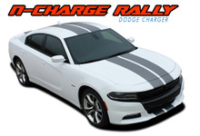 "N-CHARGE RALLY 15 : 2015 2016 2017 2018 2019 Dodge Charger 10"" Racing Stripe Rally Vinyl Graphics Decal Stripe Kit (VGP-3592)"