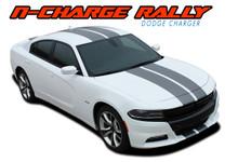 """N-CHARGE RALLY 15 : 2015 2016 2017 2018 2019 2020 2021 Dodge Charger 10"""" Racing Stripe Rally Vinyl Graphics Decal Stripe Kit (VGP-3592)"""