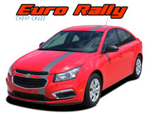 EURO RALLY : 2011 2012 2013 2014 2015 2016 Chevy Cruze Euro Offset Hood Rally Racing Stripes Vinyl Graphics Decals Kit (VGP-3638.39)