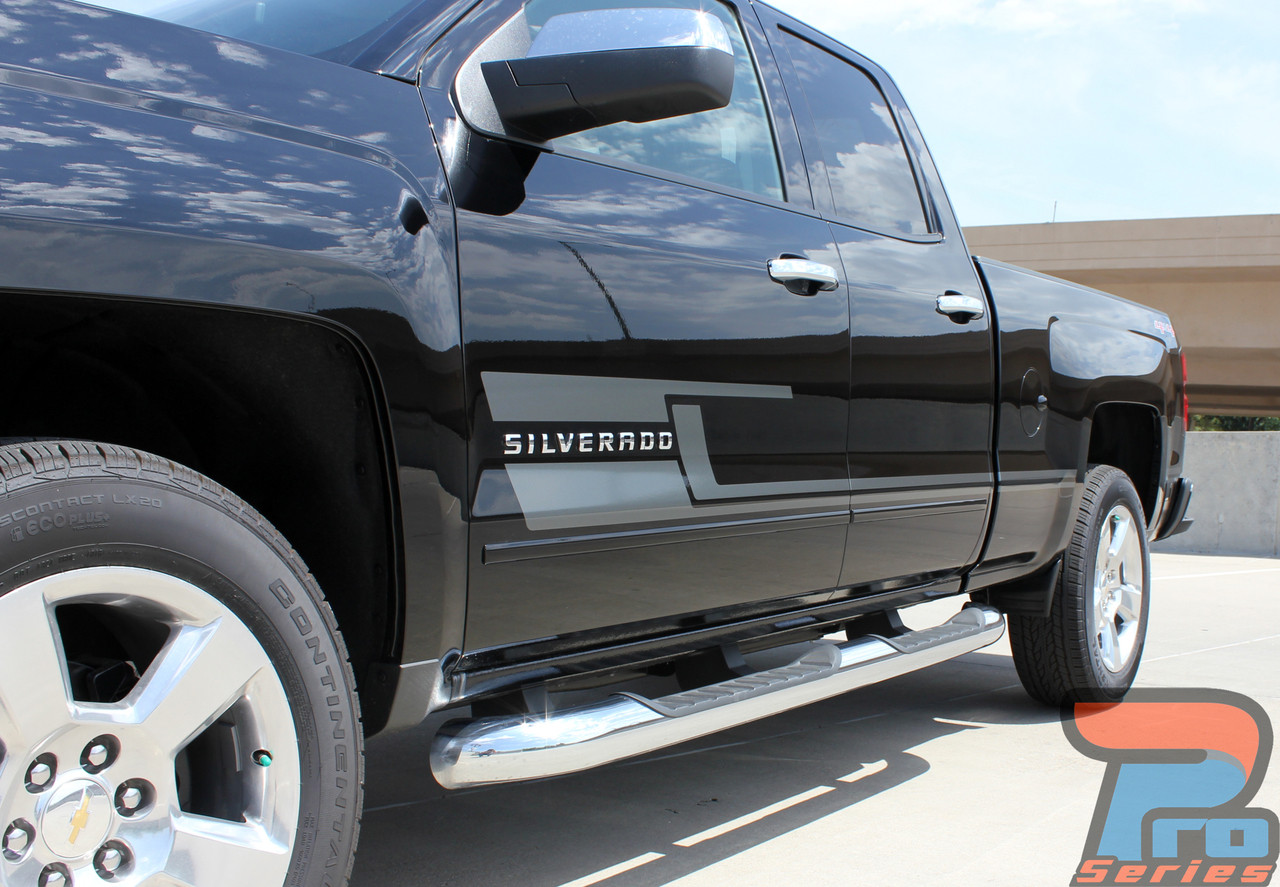 Shadow Silverado Door Stripes Silverado Decals